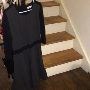 Boss black & gray dress new without tag